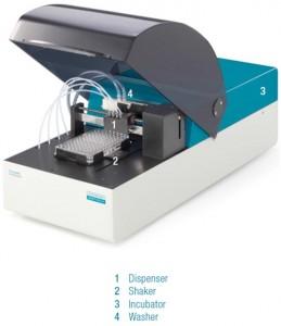 Автоматична накапваща система 4 в 1 включваща: диспенсър, шейкър, инкубатор и уошър