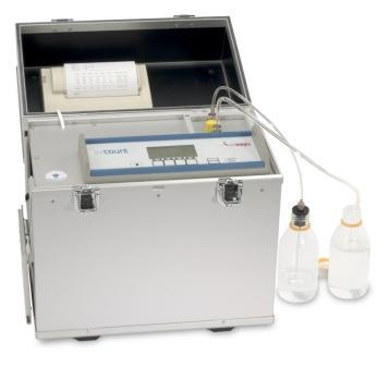 Лабораторен апарат за броене на частици в горива и масла