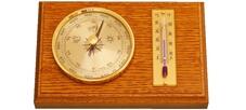 Барометър с термометър